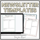 Monthly & Weekly Newsletter Templates in Google Slides | D