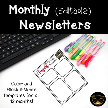 Monthly/Weekly Newsletters (Editable)