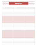 Monthly/Weekly Planner