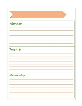 Monthly Weekly Planner