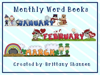 Monthly Word Book Covers
