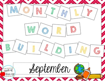 Monthly Word Building: September
