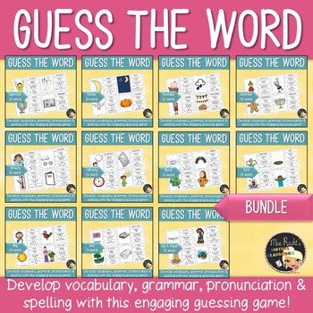 Word Work Bundle Guess the word