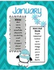 Monthly Word Lists