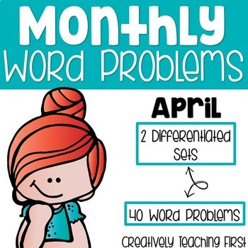 Monthly Word Problems {April}