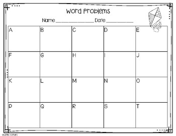 Monthly Word Problems- April
