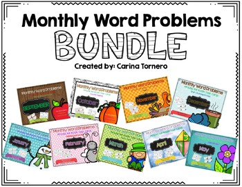 Monthly Word Problems- Bundle