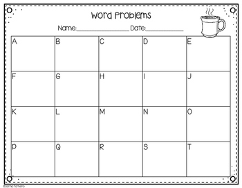 Monthly Word Problems- December