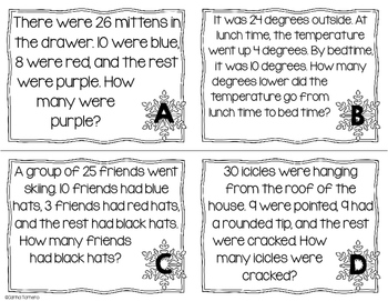 Monthly Word Problems- January