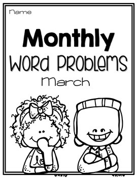 Monthly Word Problems {March}