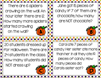 Monthly Word Problems- October