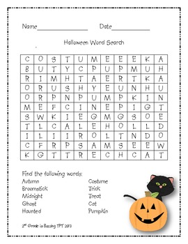 Monthly Word Search Packet (with a few extras!)