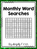 Monthly Word Searches