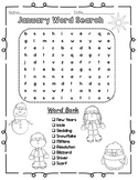 Word Searches Monthly Bundle Pack Holiday Word Searches