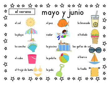 Words of the Month - Monthly Spanish Vocabulary