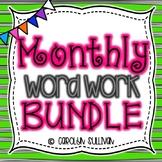 Monthly Word  Work BUNDLE for Kindergarten