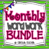 Monthly Word  Work BUNDLE for Kindergarten