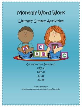 Monthly Word Work---Literacy Center