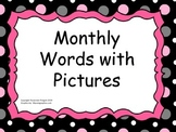 Monthly Words with Pictures