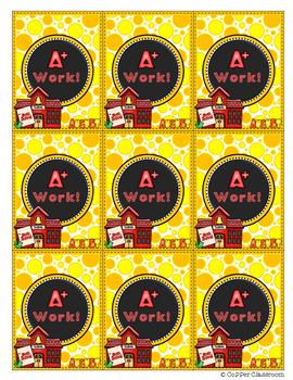 Monthly Work Award Brag Tags