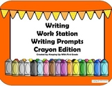 Monthly Work Station Prompts- Writing Station Crayon Set