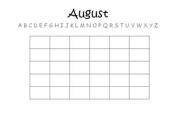 Monthly Writing Assesments