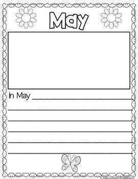 Monthly Writing Book:  My First Grade Adventure