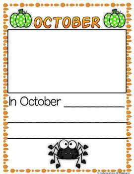 Monthly Writing Book:  My Kindergarten Adventure