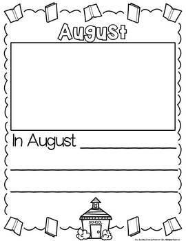 Writing: Kindergarten Adventure Booklet