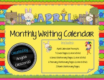 Monthly Writing Calendar - April