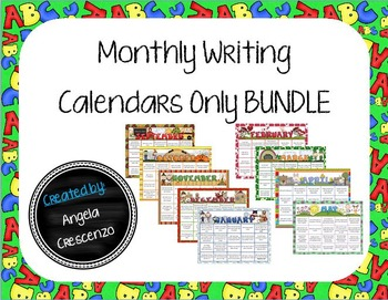 Monthly Writing Calendar Bundle Sept. - May {Calendar ONLY}