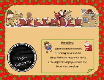 Monthly Writing Calendar - December