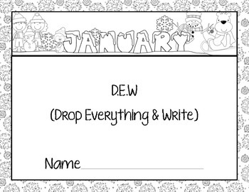 Monthly Writing Calendar - January