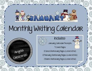 Monthly Writing Calendar - January