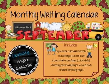 Monthly Writing Calendar - September