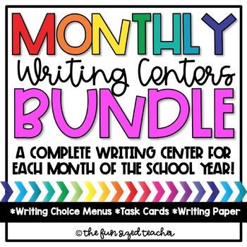 Monthly Writing Centers Bundle