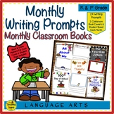 Monthly Writing Prompts With Classroom Book Covers