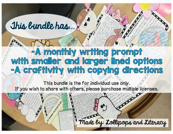 Monthly Writing Craftivities
