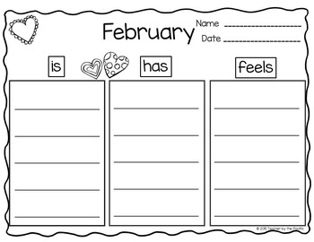 Monthly Writing Graphic Organizers {Collection 1} – Tree Maps, Word / Idea Webs