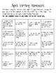Monthly Writing Homework Calendars