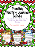 Monthly Writing Journal Bundle: November, December and January