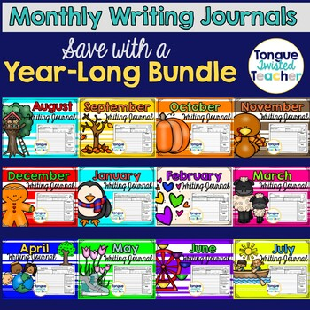 Monthly Writing Journal Bundle - While I Work Deal