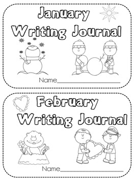 Monthly Writing Journal Covers
