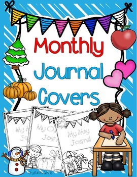Monthly Writing Journal Covers (August-May)