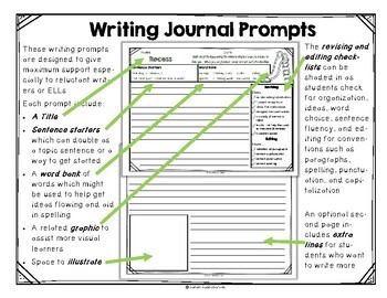 Monthly Writing Journal - Free Sample Pages