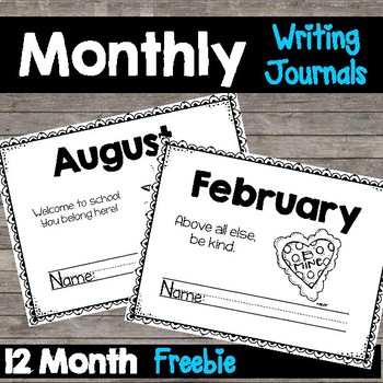 Monthly Writing Journal Freebie | Primary