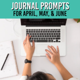 Monthly Writing Journal Prompts for Google Slides / April - June