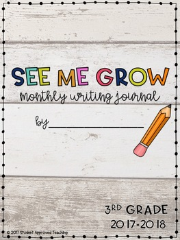 Monthly Writing Journal- See Me Grow!