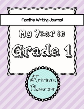Monthly Writing Journal and All About Me activity