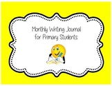 Monthly Writing Journal for Primary Students